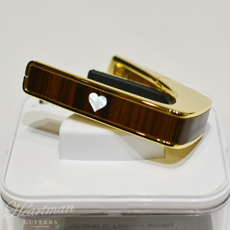 Limited Edition 24K Gold with Indian Rosewood Heart MOP Inlay